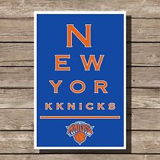 New York Knicks Gift Poster NBA Basketball Eyechart Art Print 12x16""
