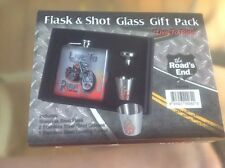FLASK &  SHOT GLASS GIFT PACK VERY NICE SET NEW
