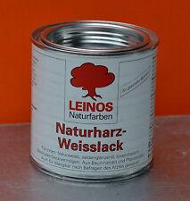 LEINOS 0,375ltr. Naturharz-Weisslack Weiss Holz Metall Stein (€24,-/ltr.)