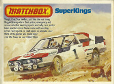 1982/1983 MATCHBOX Catalog: GIFT SETS,SUPERKINGS,YESTERYEAR,DISNEY,DieCast's