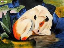 Abstrakte künstlerische Malerei mit Kuh-Motiv