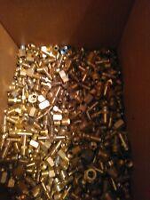Lot of 50 Brass Hydraulic Brake Air & Plumbing Fittings 1/4 5/16 3/8 1/2