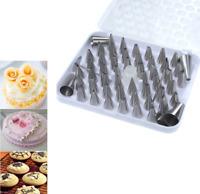 52 pcs Icing Piping Tips Nozzles Set Cake Decorating Sugar Fondant Dessert Tools