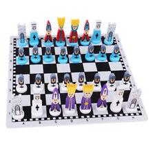 Jeu d'Echecs en Bois Portable Échiquier de Luxe Chess Game Cadeau Enfant