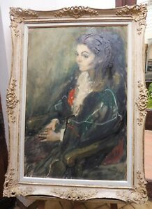 LARGE OIL ROYAL ACADEMY LISTED ARTIST MARGARET MILNE FREE SHIPPING ENGLAND
