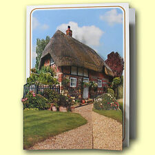 Pictoria Press Imported 3D Greeting Card - GARDEN COTTAGE - #PIC-215