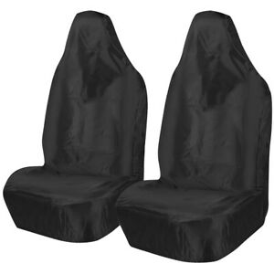 TOYOTA HI-LUX 4x4 - Heavy Duty Black Waterproof Pair Car Seat Covers- 2 x Fronts