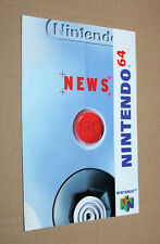 Nintendo 64 NEWS Club Werbung Ad Flyer Promo Super Mario Kart World Blast Corps