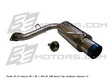 Lancer 2008 2009 2010 2011 Tsudo N1 Ti-Burnt Tip Axle-back exhaust JDM muffler