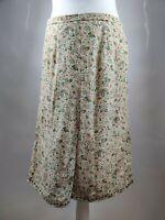 Vintage Women Skirt Aline Paisley Floral Print Spring High Waist Blogger UK 14 L