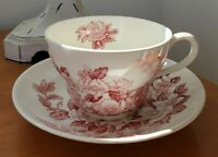 Johnson Bros Windsor Ware Apple Blossom Oversized Jumbo Cup/Saucer