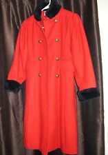 Size 10 girls ROTHSCHILD RED AND BLACK long winter COAT  70% wool & 30% nylon