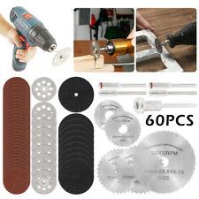 60x Mini Diamond Cutting Discs Wheel Tool Set + Drill Bit For Rotary Tool CA