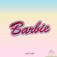 Barbie Pink Embroidered Iron On Patch Sew On Badge Applique