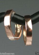 "Rare 1/2"" Solid 14K PINK ROSE Gold Endless Huggies Hoop Earring ITALIAN gorgeous"