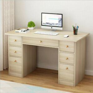 Modern Computer Desk With Drawers Laptop Office Home Desks PC Laptop Table US