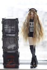 Bjd Doll parrucca  1/3 8-9 Dal Pullip AOD DZ SD DOD LUTS Dollfie Brown Long Hair