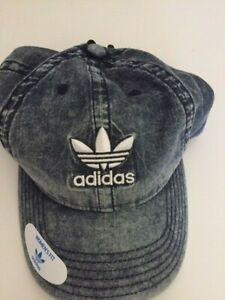 Adidas HAT CAP Relaxed Denim acid Washed Blue Trefoil Relaxed Strap Back NEW NWT