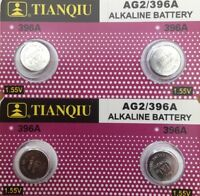 2-AG2 (4 Qt,) Tianqiu 396 Alkaline Button Cell Battery USA Authorized seller.