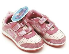 KIDS Girls Peppa Pig  Bows Jogger Trainers Size:UK10