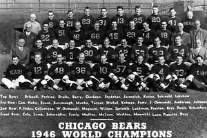 1946 CHICAGO BEARS 8X10 TEAM PHOTO FOOTBALL PICTURE NFL WORLD CHAMPS