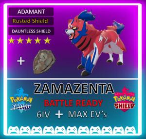 Pokemon Sword & Shield 6IV Zamazenta! /w Rusted Shield Ditto Bundle **FAST**