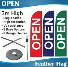3m Outdoor OPEN Flag Feather Banner Feather Flag with Base
