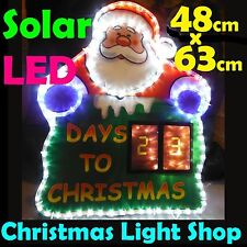 Solar Days Til Christmas Santa Countdown LED RopeLight Outdoor Advent Calendar