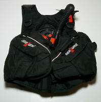 SeaQuest ADV Medium Black SCUBA Diving BCD Size Buoyancy Compensator Device Dive