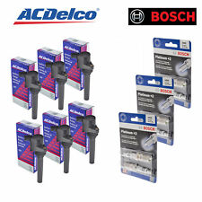 Set of 6 Bosch Spark Plugs 4305 & 6 ACDelco Ignition Coil BS-C1458