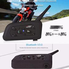 VNETPHONE V6 Motorcycle Helmet Full-Duplex BT Intercom Headset 1200M Waterproof