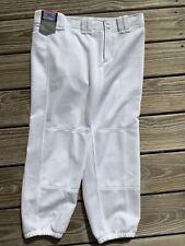 New Women's Mizuno White Softball Ankle Pants ~ Sz L ~ NWT