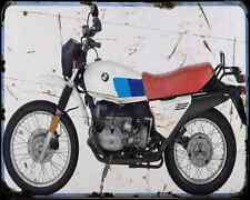 Bmw R80Gs 80 1 A4 Metal Sign Motorbike Vintage Aged