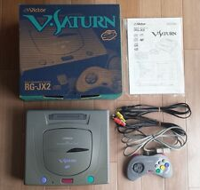 V Saturn Boxed Console set Sega Victor RG-JX2 Tested&working CIB