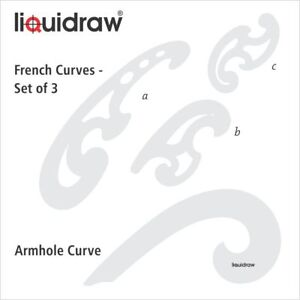 French Curve Ruler Set of 4 Rulers Technical Drawing Stencil Templates Curves