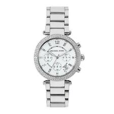 *NEW* Michael Kors MK5353 Silver Parker Glitz Ladies Women's Watch 2 Yr Warranty
