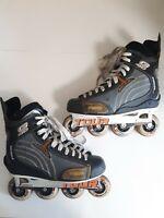 TOUR Inline SKATES Roller Hockey Blades 72/80 Bi-level MEN Sz 10 G40 Tech Fusion