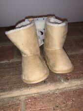 NWT Rising Star Tan Chukka Cowboy Faux Fur Lineds Boots 9 12 Months ❤️tb9j15