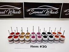 10 set MIX white tyres Samed Wheels premium rubber wheels for HW 1:64 cars #30
