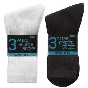12 Pairs Boys Kids Cotton Rich Sport Socks Everyday Wear Sport School Socks