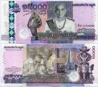 CAMBODIA 15000 15,000 RIELS 2019 P NEW COMM. HYBRID REPLACEMENT UNC