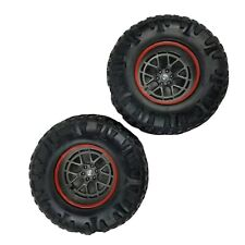 """New Bright R/C 1:12 Ford F-150 2 Front Wheels Only 4"""" Inch Tall Parts Only Euc"""