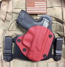 M&P Shield 9/40 IWB/OWB Morph Hybrid Holster, Red Kydex, leather, RH