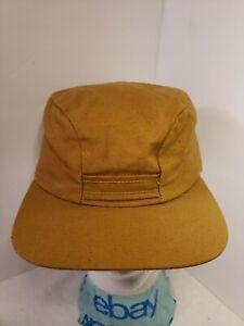 Vtg canvas light brown Hat  Hunting Fishing trapper ear neckflap hat 7 1/8