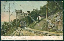 Trieste Città Ferrovia Elettrica Opicina Treno cartolina VK1692