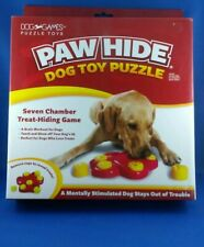 Paw Hide dog toy puzzle *NEW* Seven chamber treat-hiding game DG40112 Dog Games