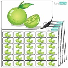 480x Lime Stickers (38 x 21mm) Self Adhesive Fruit Labels By Label Create