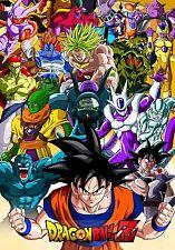 Poster A3 Dragon Ball Goku Enemigos / Enemies Manga Anime Cartel
