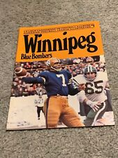 1972 Montreal Alouettes v Winnipeg Blue Bombers CFL Football Program Don Jonas