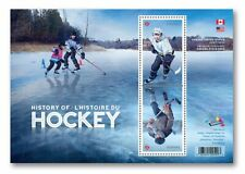 HOCKEY HISTORY = JOINT ISSUE with USA Souvenir Sheet MNH Canada 2017 #3039